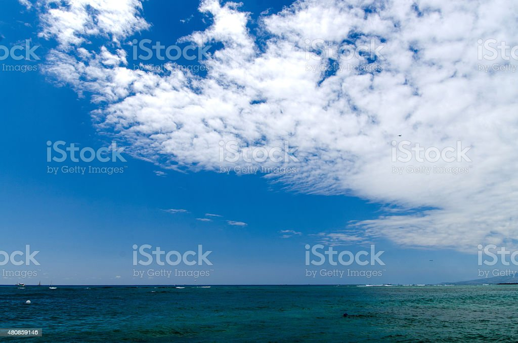Waikiki landscape stock photo