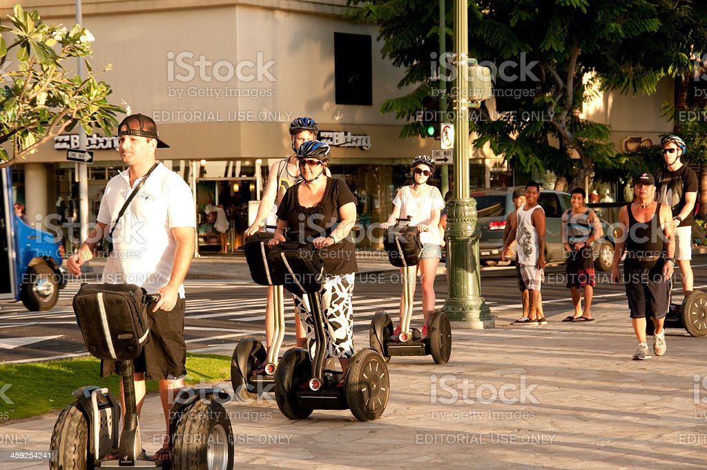 Waikiki Segway Tour royalty-free stock photo