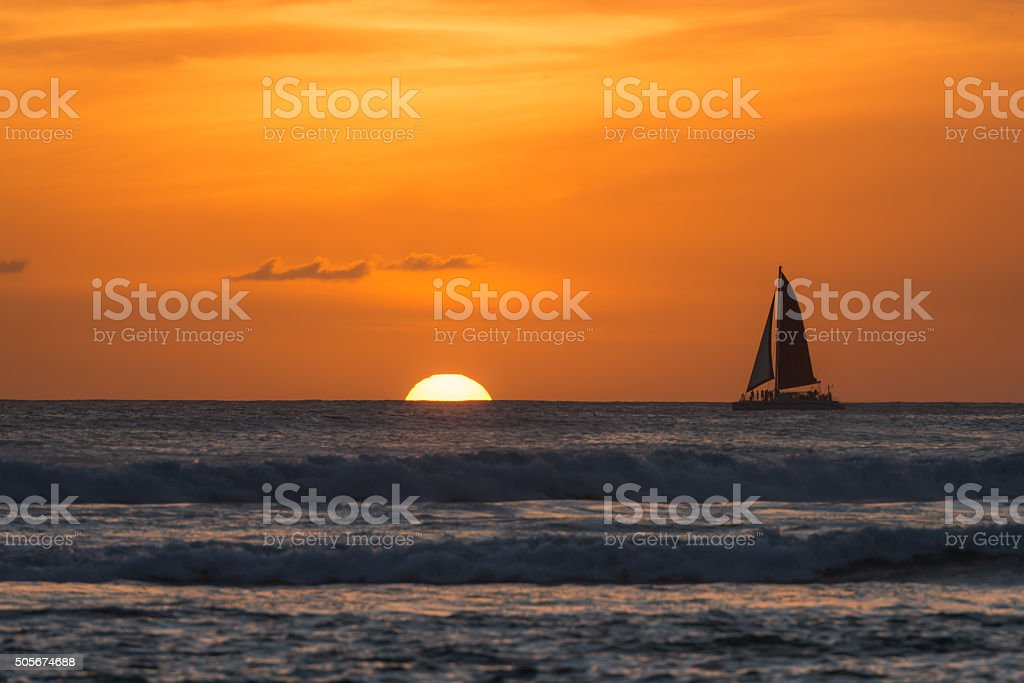 Waikiki Sunset stock photo