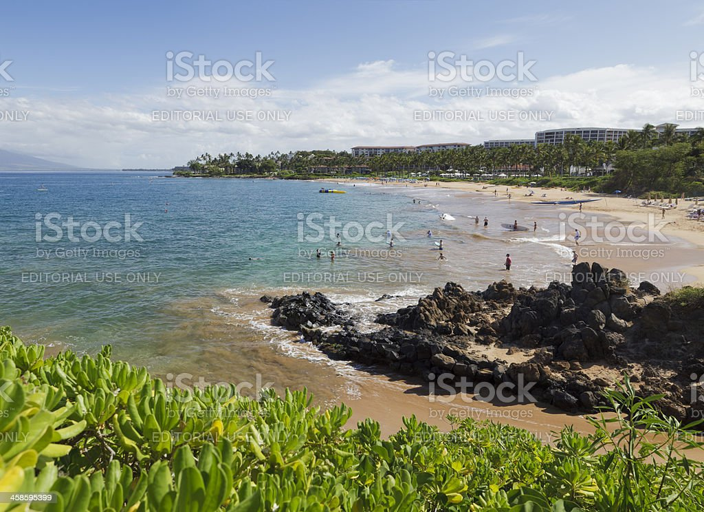 Wailea Beach, Maui, Hawaii stock photo