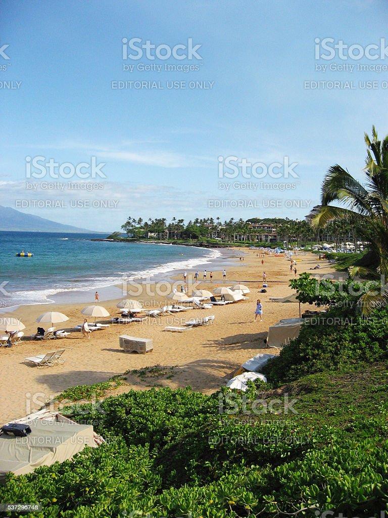 Wailea Beach stock photo