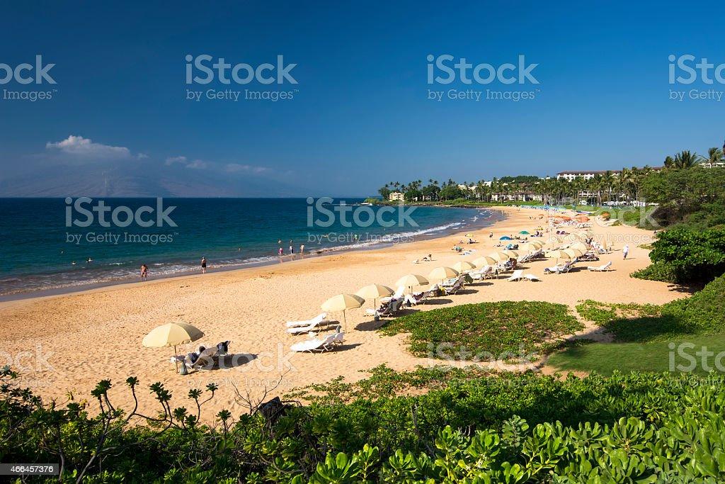 Wailea Beach,South Shore of Maui, Hawaii stock photo