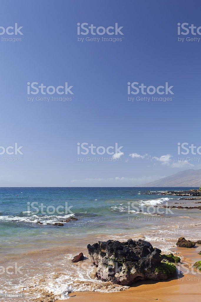 Wailea-Makena Ocean Shore stock photo