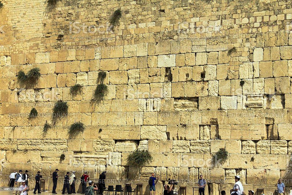 Wailing Wall an important jewish religious site. Jerusalem, Israel stock photo