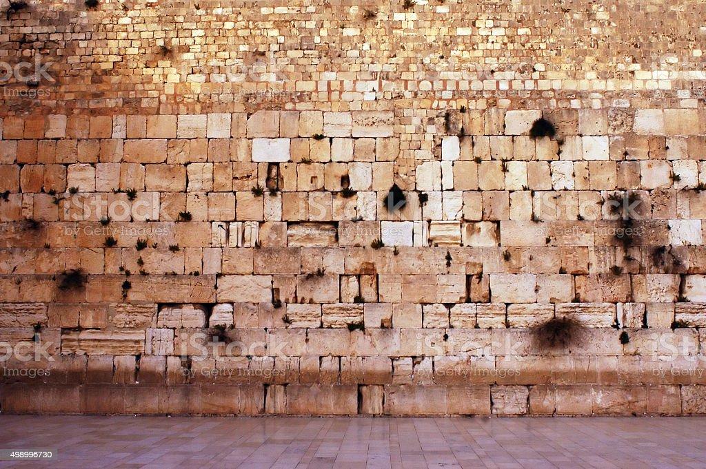Wailing Wall Empty in Jerusalem stock photo