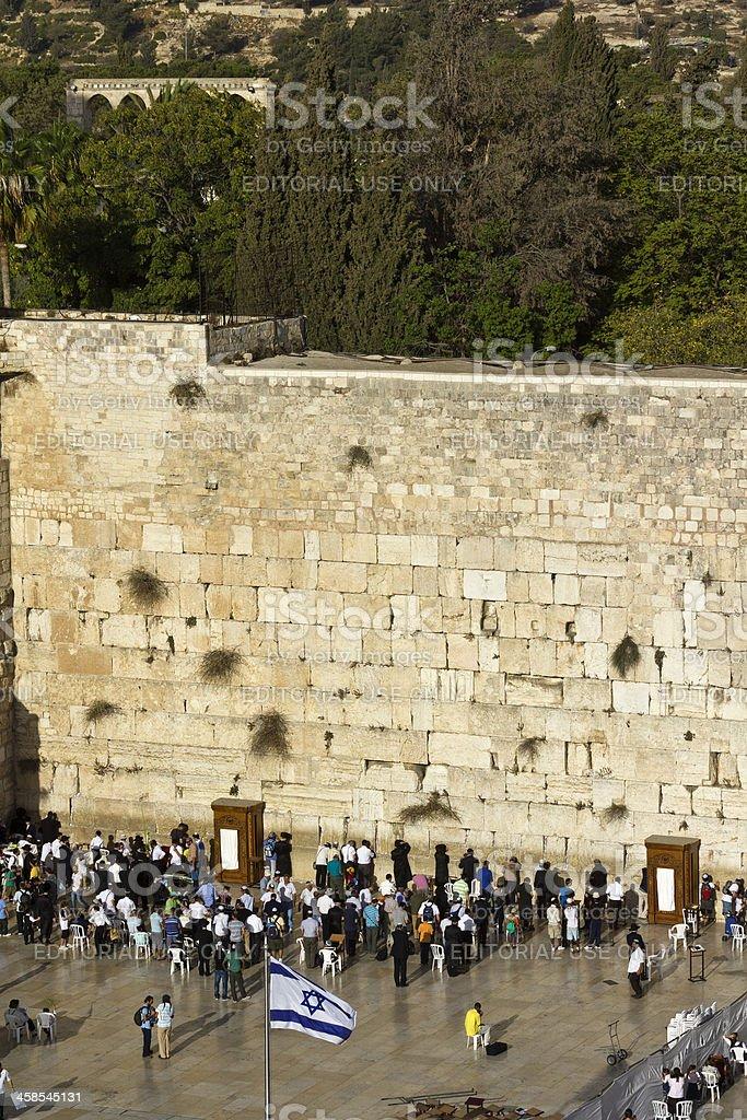 Wailing Wall in Jerusalem royalty-free stock photo