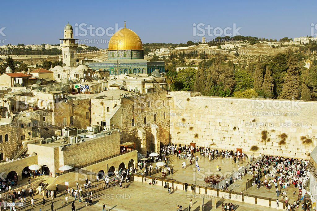 Wailing Wall in Jerusalem royalty-free stock photo