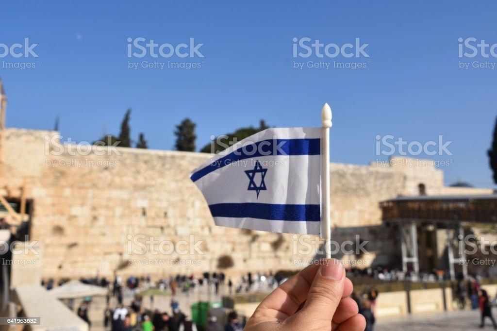 Wailing Wall in Jerusalem stock photo