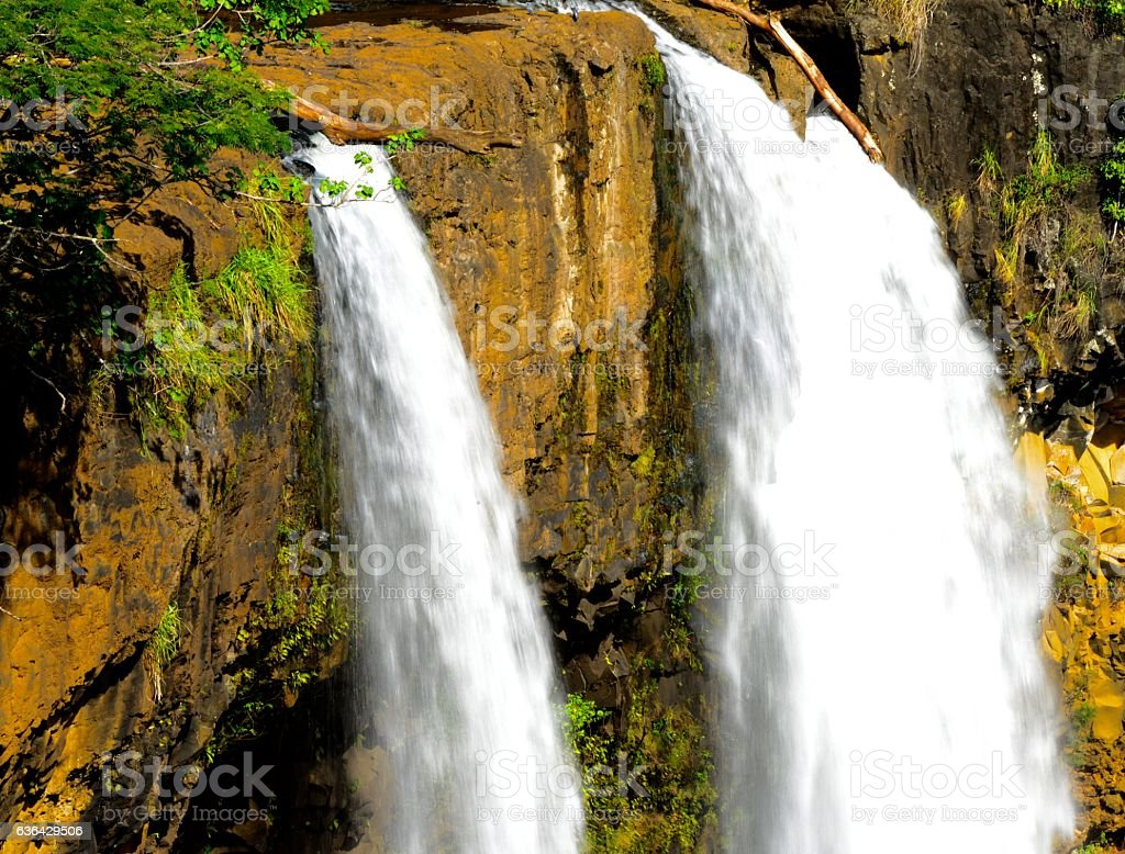 Wailua Fall stock photo