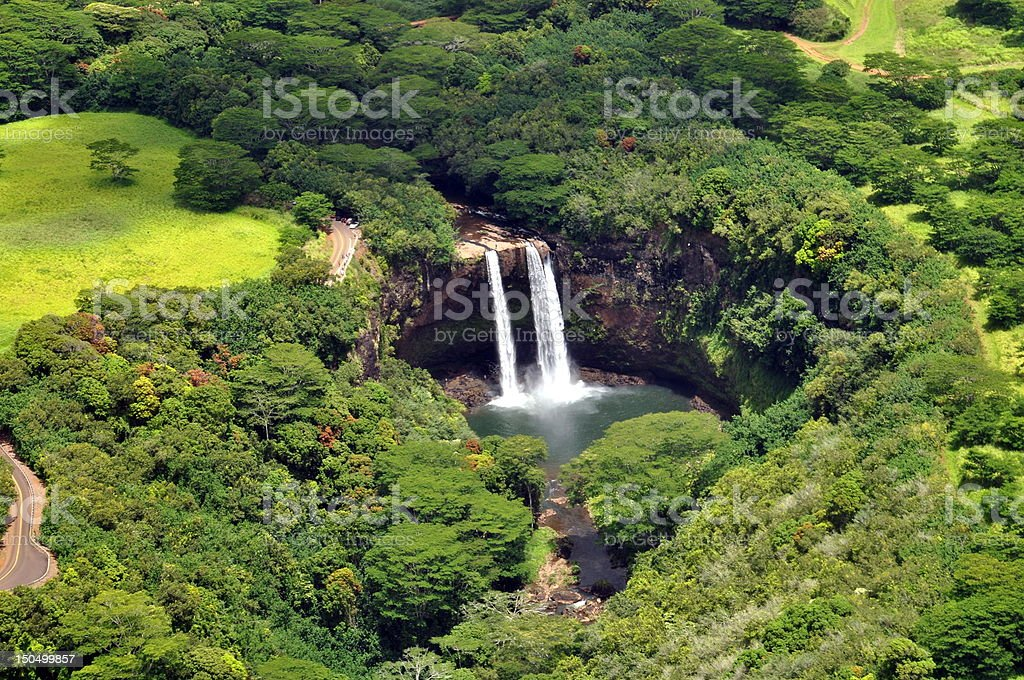 Wailua Falls - Kauai, Hawaii stock photo