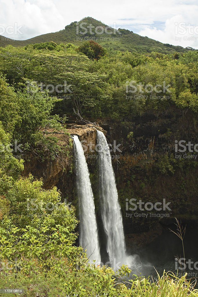 Wailua Falls - Kauai, Hawaii royalty-free stock photo