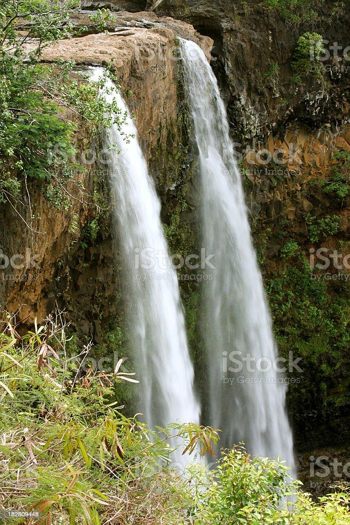 Wailua Falls, Kauai, Hawaii royalty-free stock photo