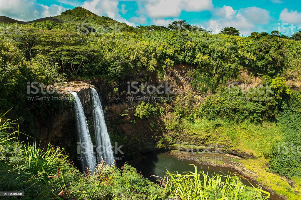 Wailua Falls, Kauai stock photo