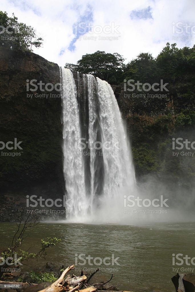 Wailua Falls Kauai Waterfall royalty-free stock photo