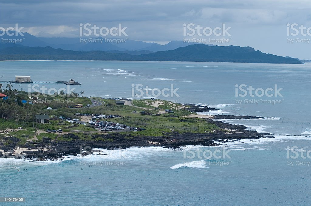 Waimanalo Bay royalty-free stock photo
