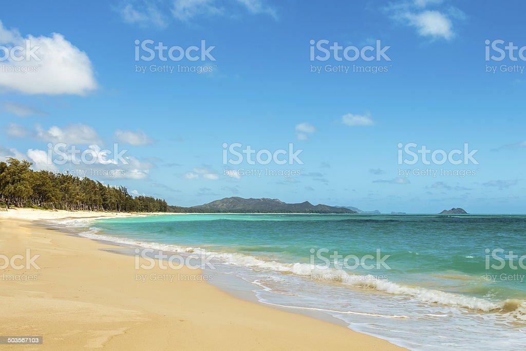Waimanalo Beach stock photo