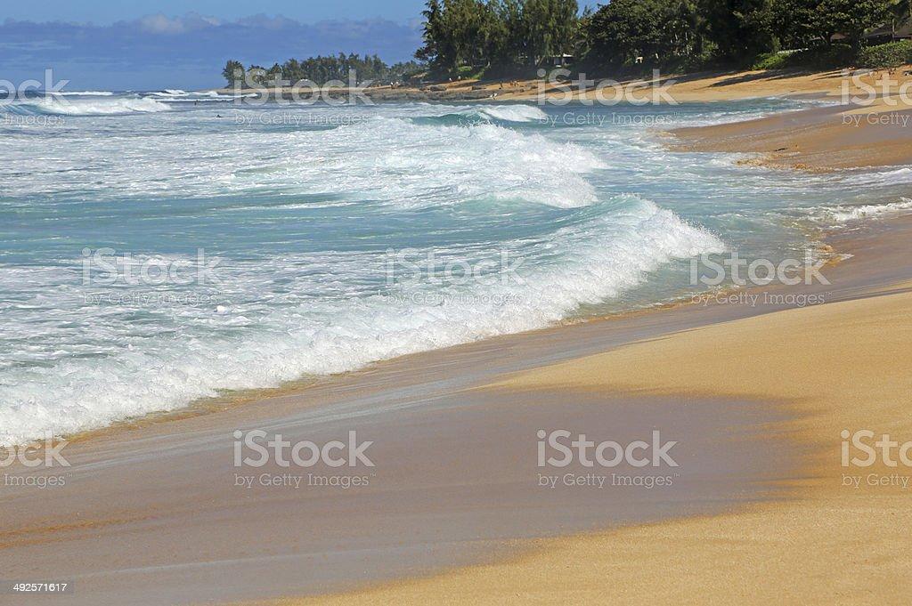 Waimea Bay Beach stock photo