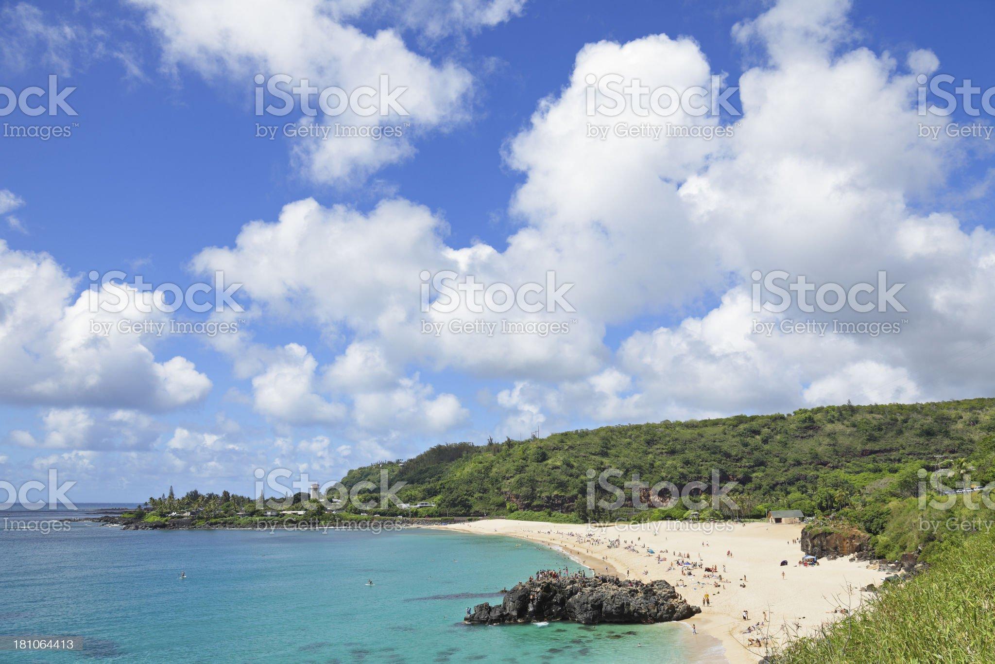 Waimea Bay royalty-free stock photo