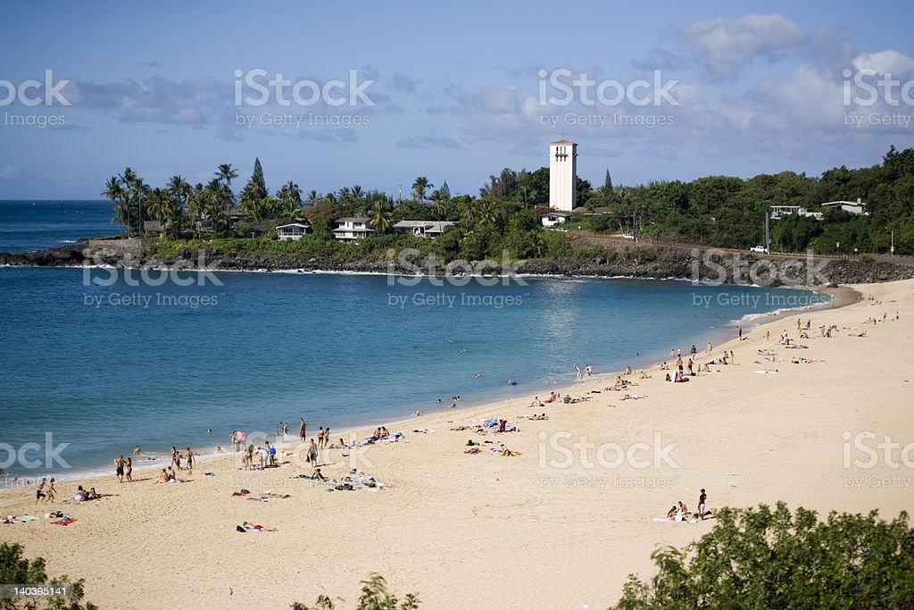 Waimea Beach Day stock photo