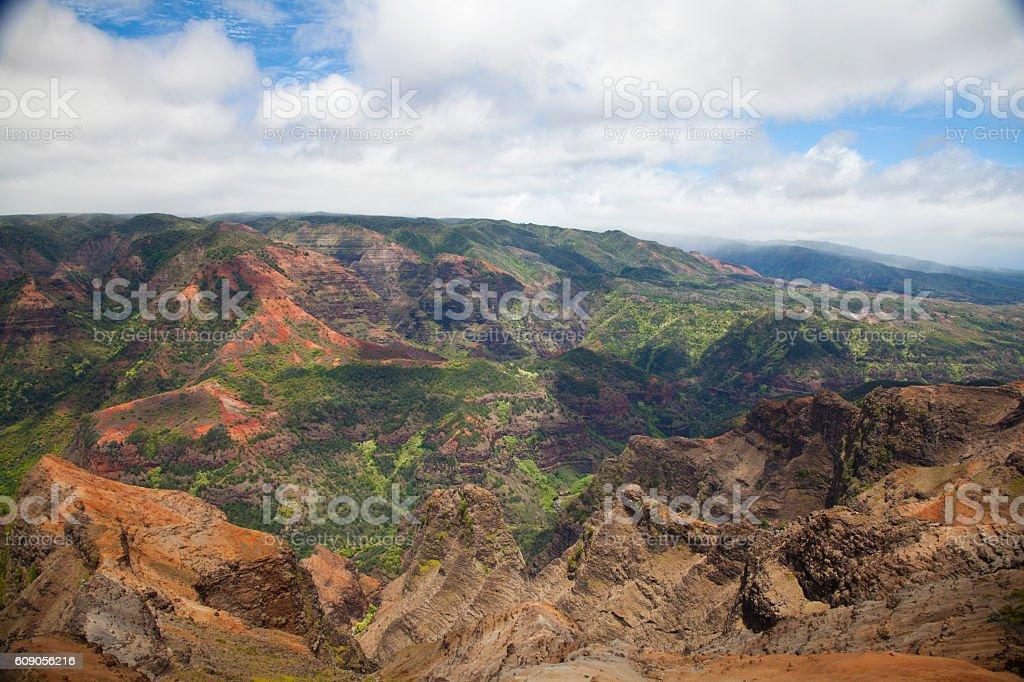 Waimea Canyon in Kauai, Hawaii stock photo