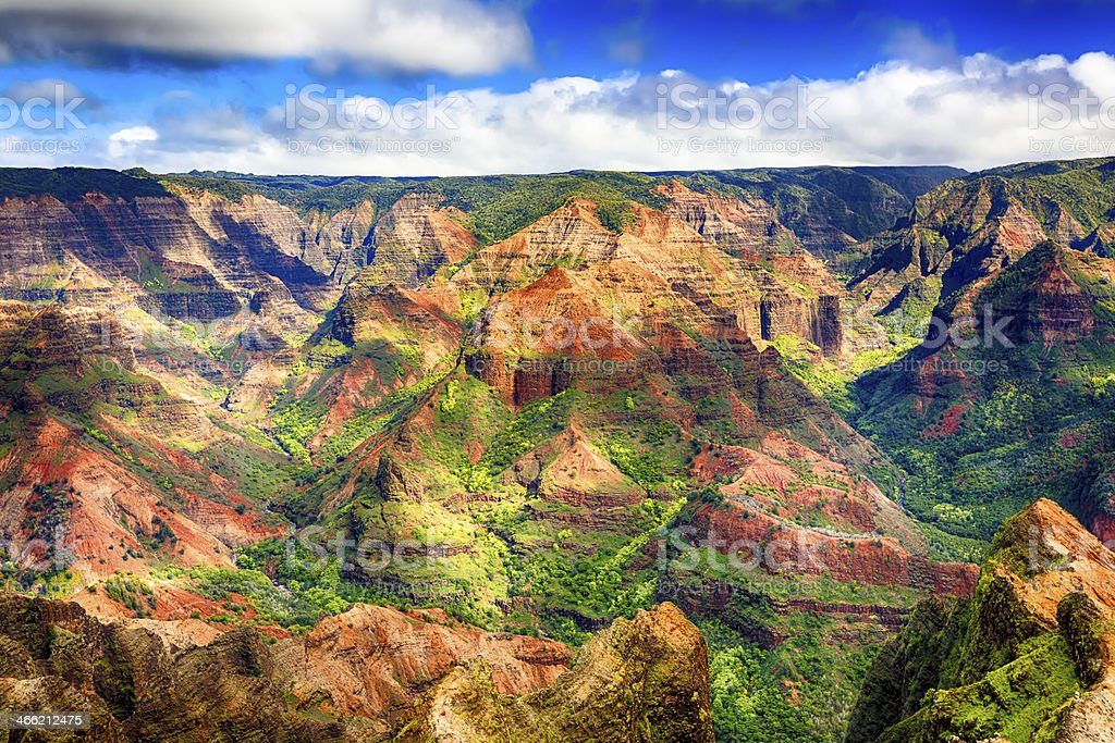 Waimea Canyon, Kauai stock photo