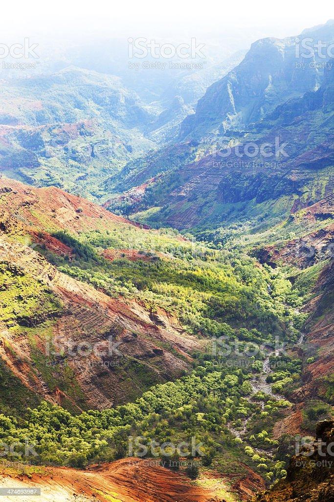 Waimea Canyon of Kauai Island Hawaii stock photo