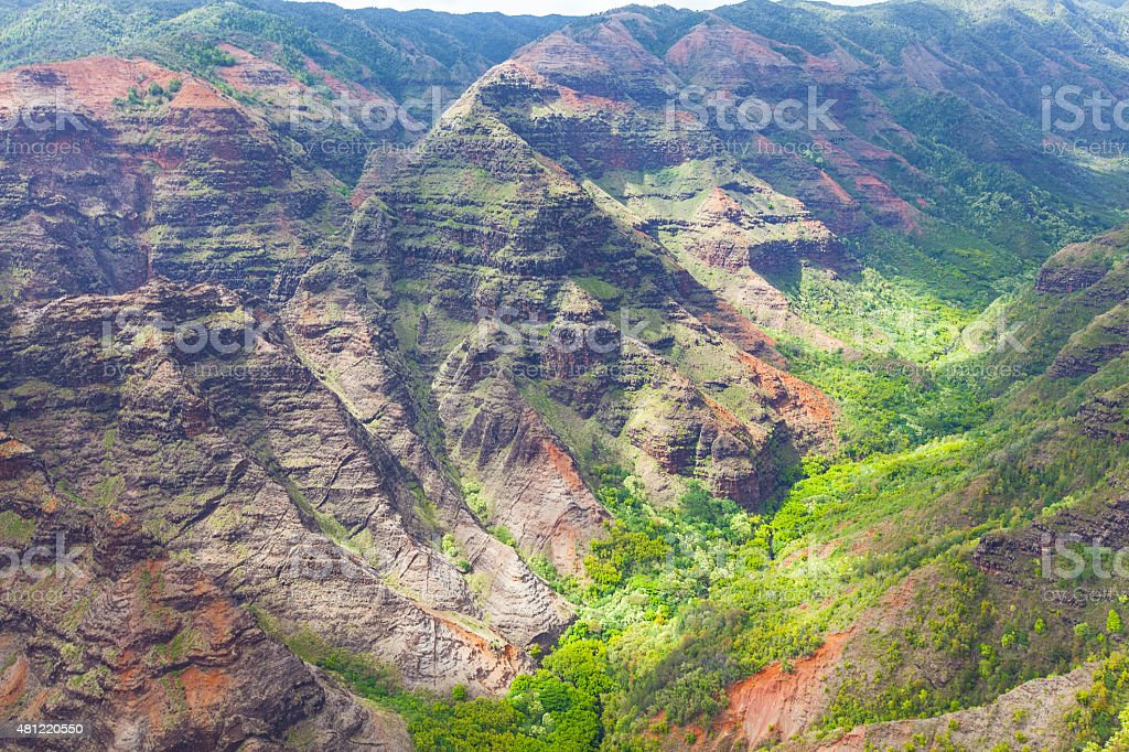 waimea canyon view from above stock photo