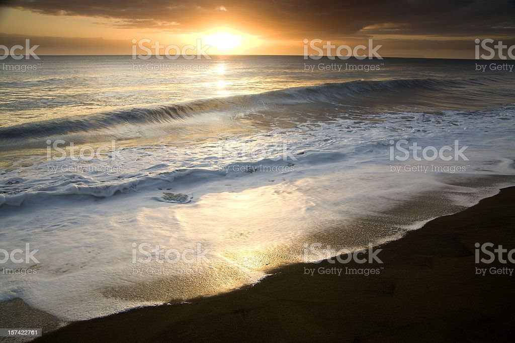 Waimea sunset, islands of Hawaii. royalty-free stock photo