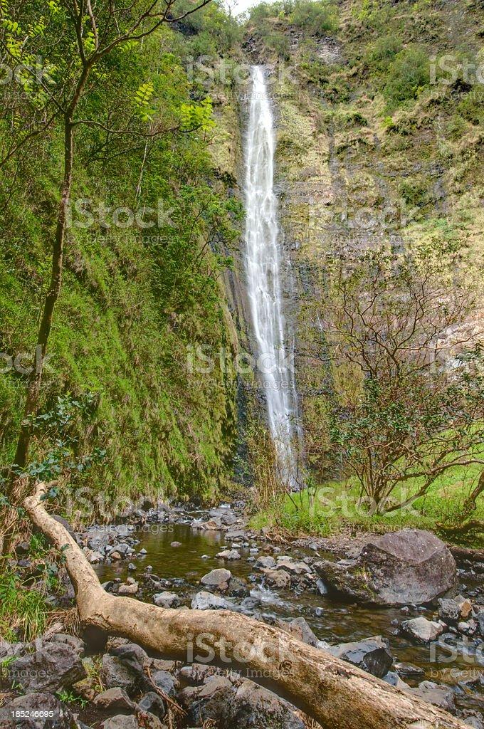 Waimoku Falls, Maui, Hawaii stock photo