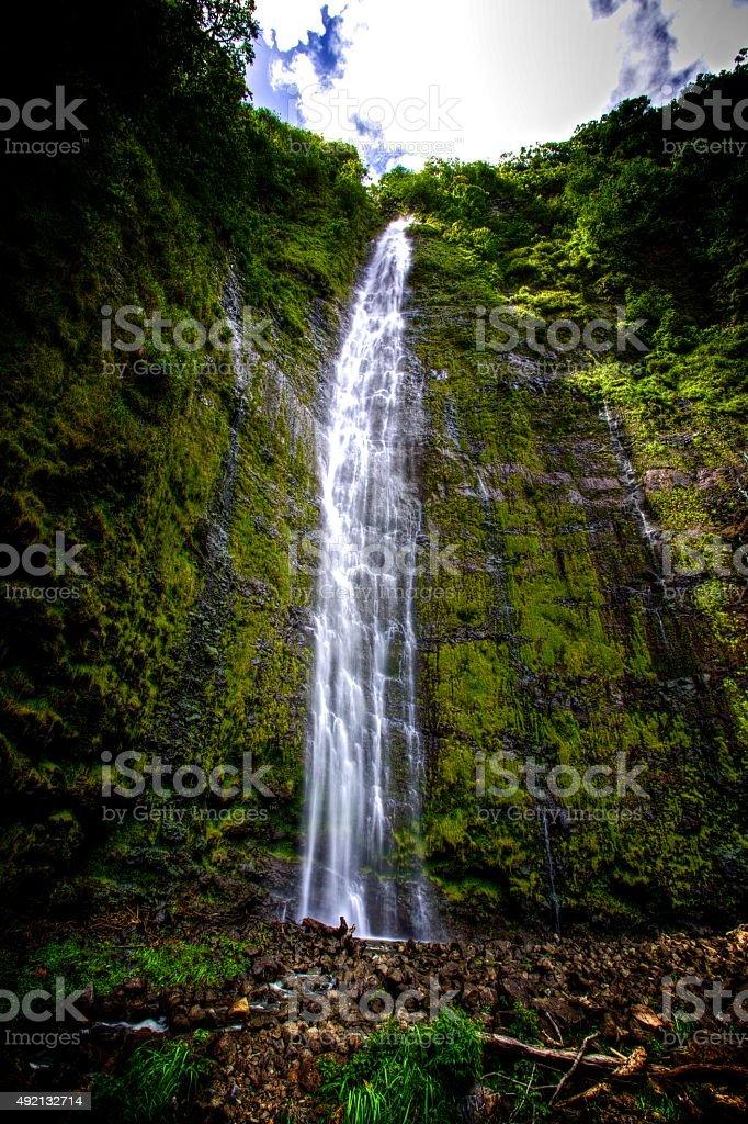 Waimoku Falls stock photo