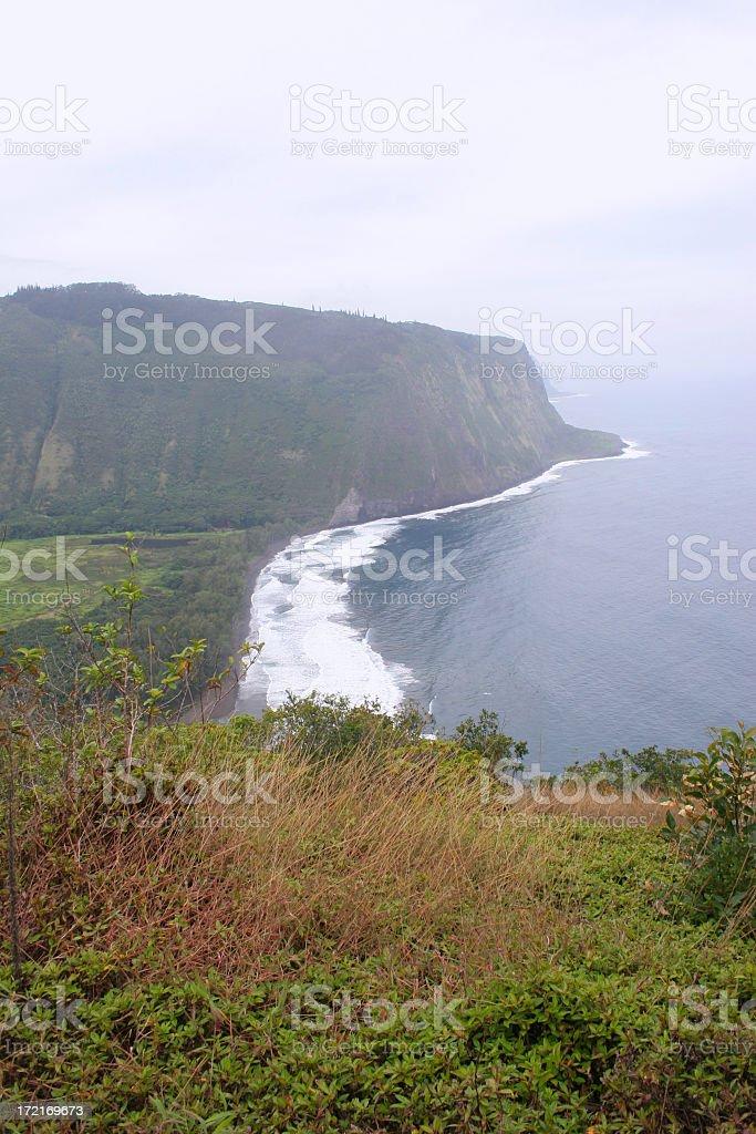 Waipio Bay stock photo
