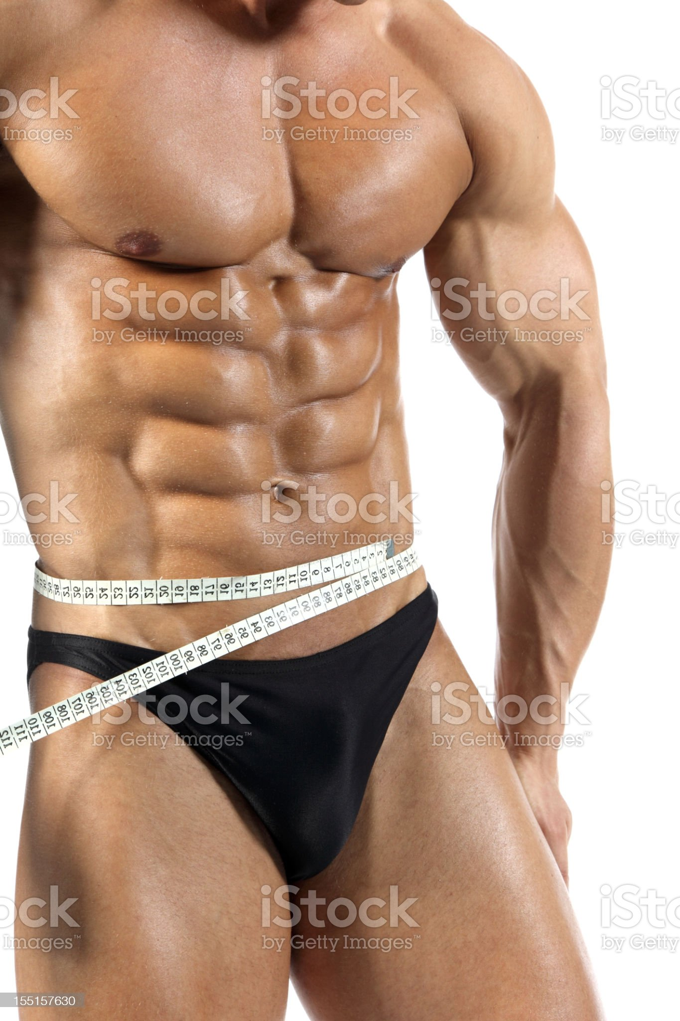 Waist measuring royalty-free stock photo
