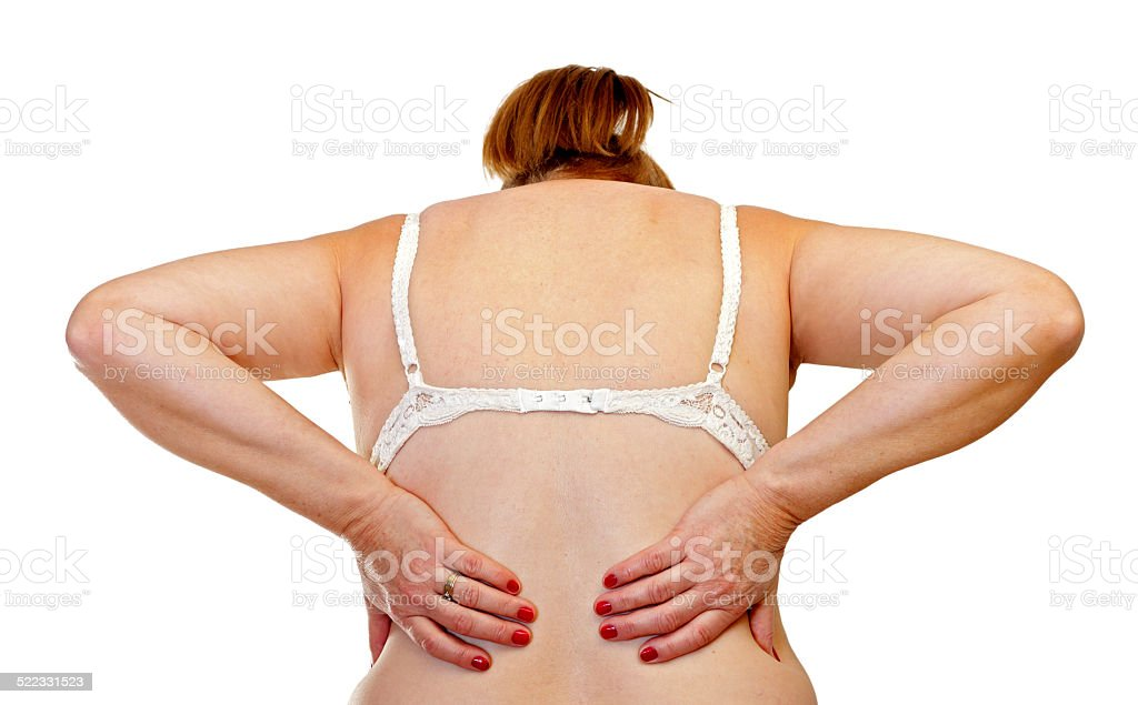 Waist pain stock photo