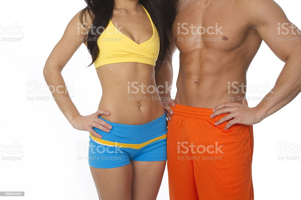 waist shot of fit couple royalty-free stock photo
