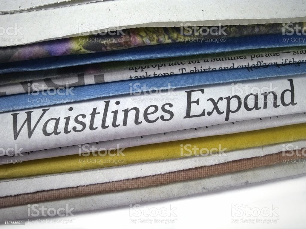 Waistlines Expand stock photo