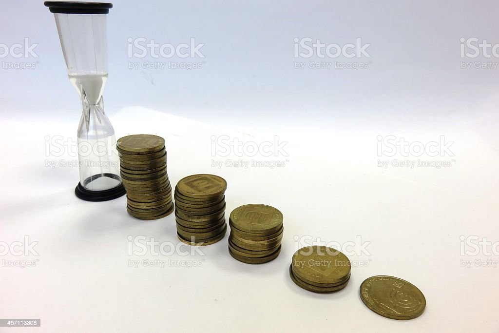 Wait for  wise investment stock photo