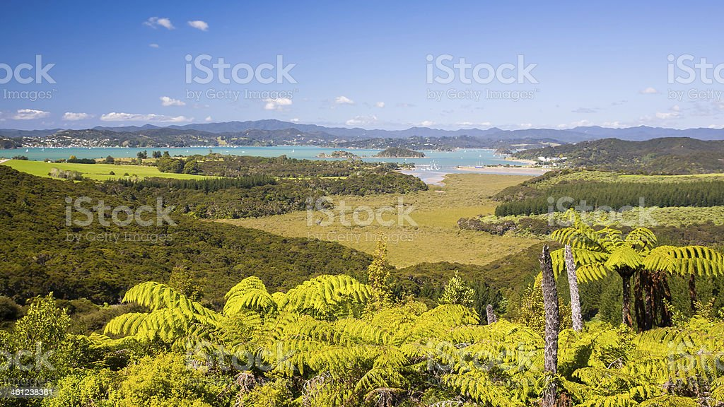 Waitangi, Bay of Islands, Paihia, Northland, New Zealand stock photo