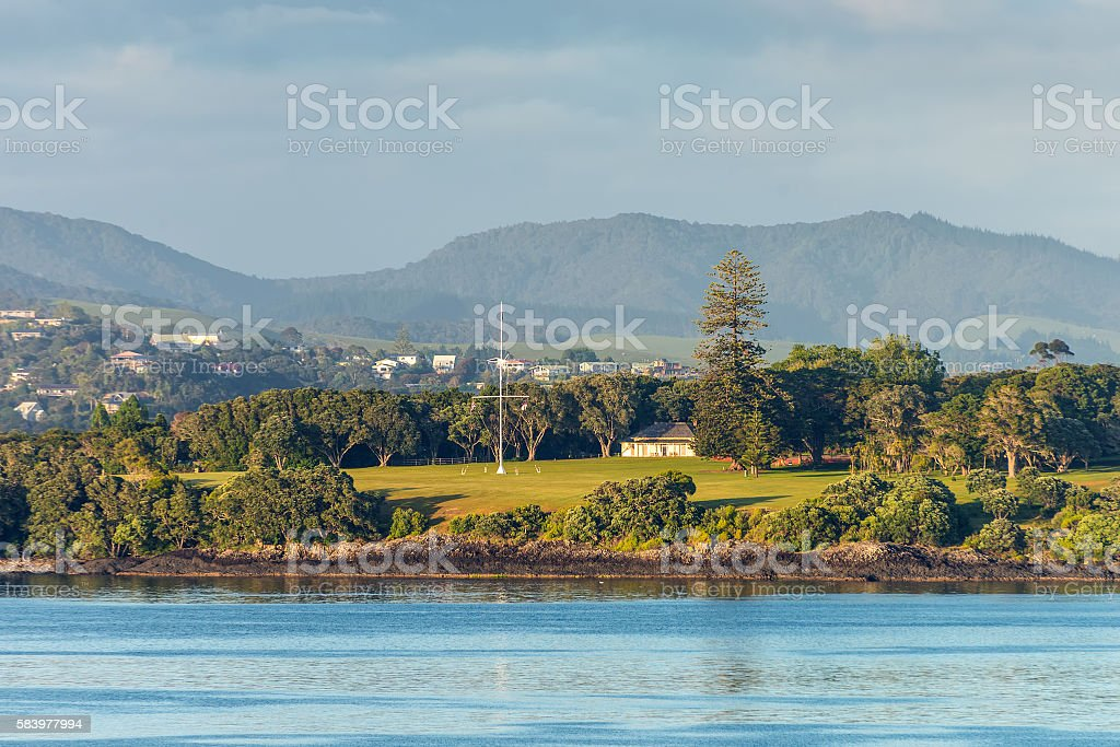 Waitangi treaty grounds in Paihia, Northland, New Zealand stock photo