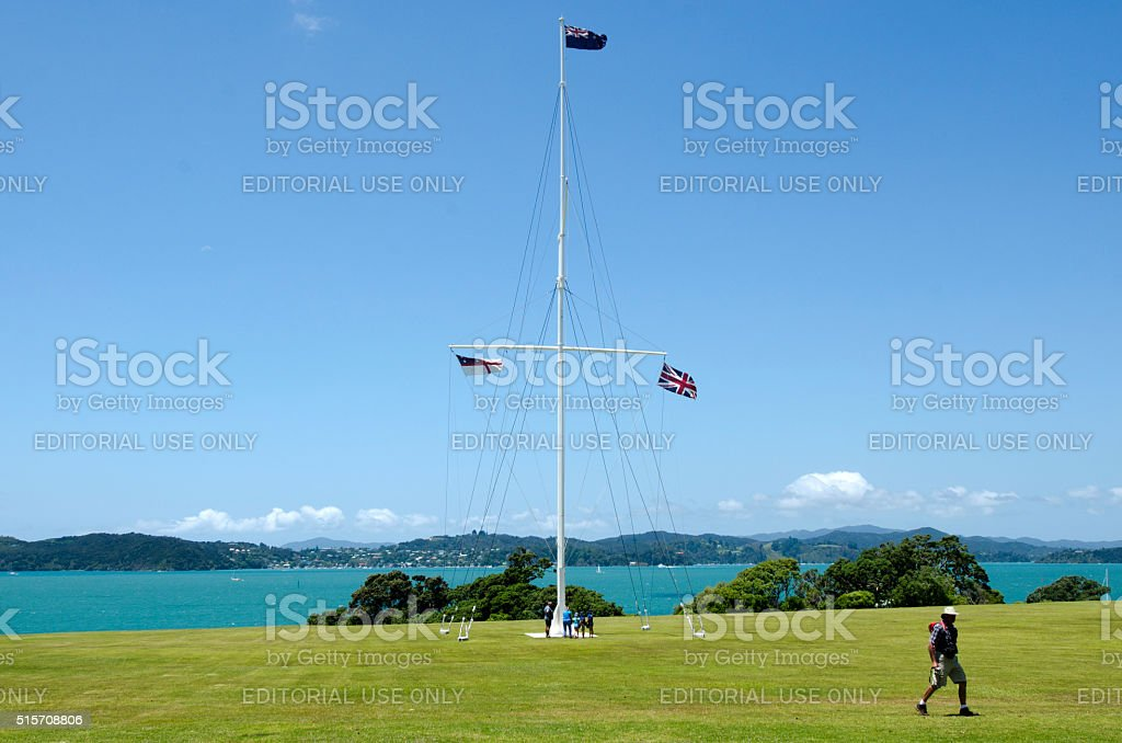 Waitangi Treaty Grounds stock photo