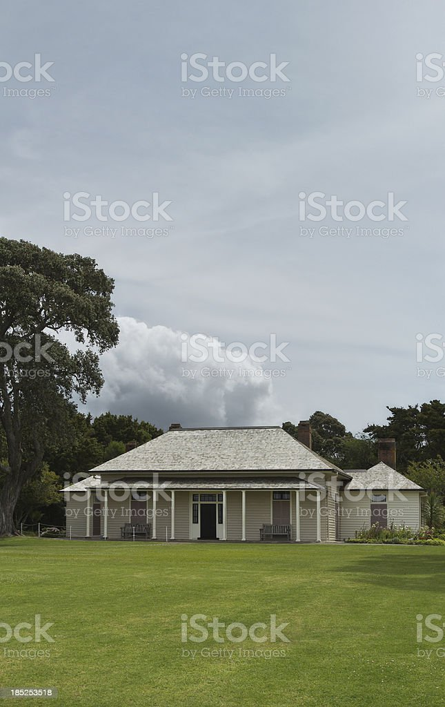 Waitangi Treaty House stock photo
