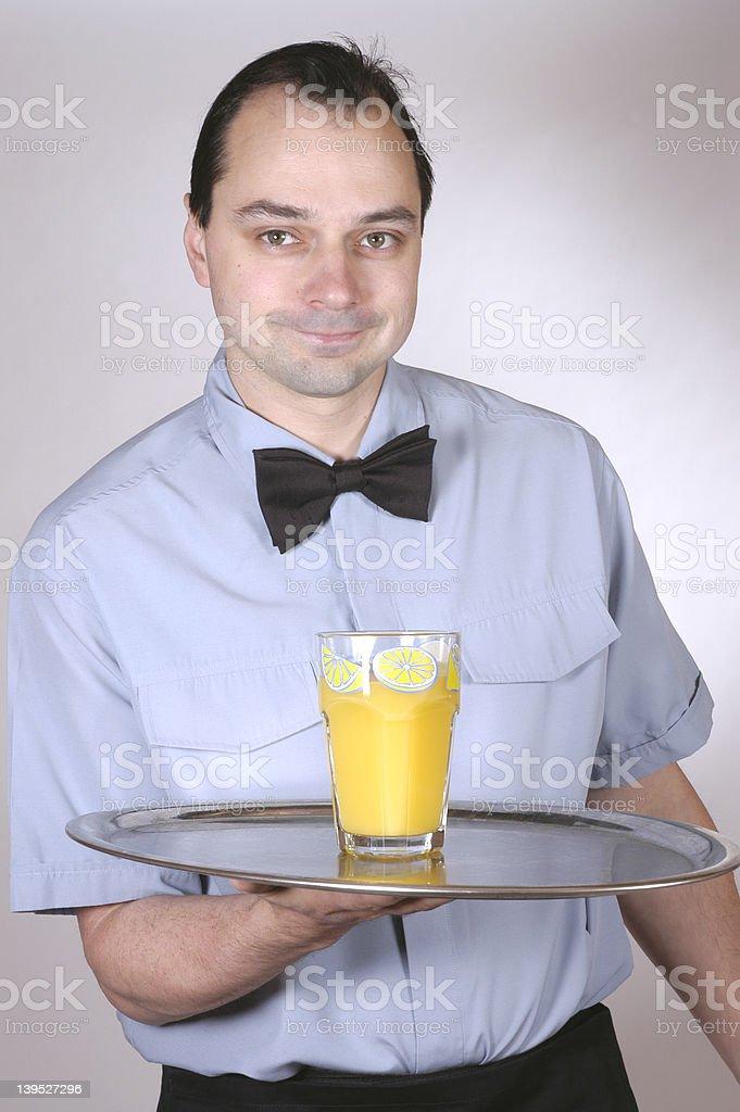 waiter 3 royalty-free stock photo