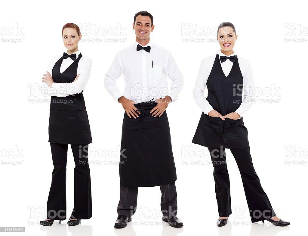 waiter and waitress stock photo