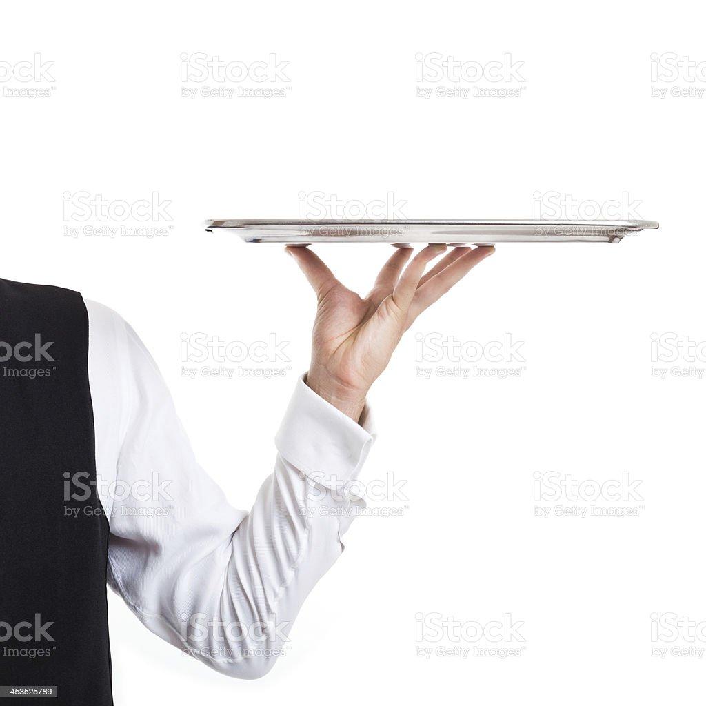 Waiter dish stock photo