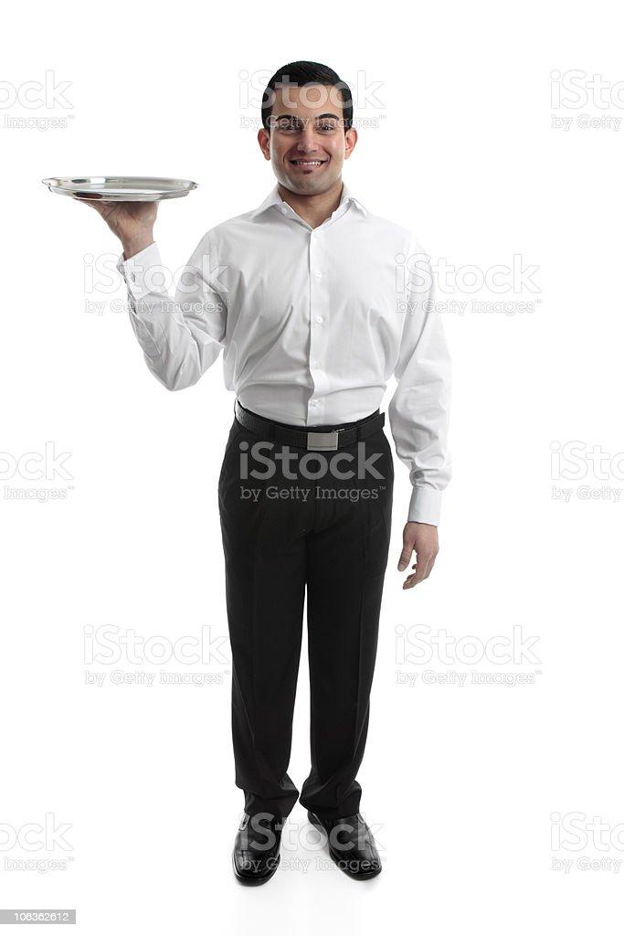 Waiter or Servant royalty-free stock photo