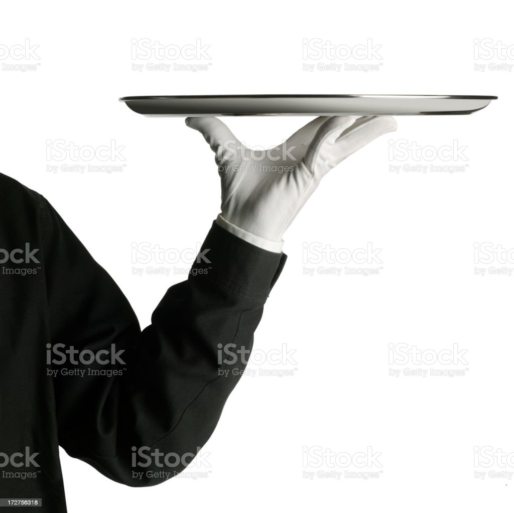Waiter stock photo