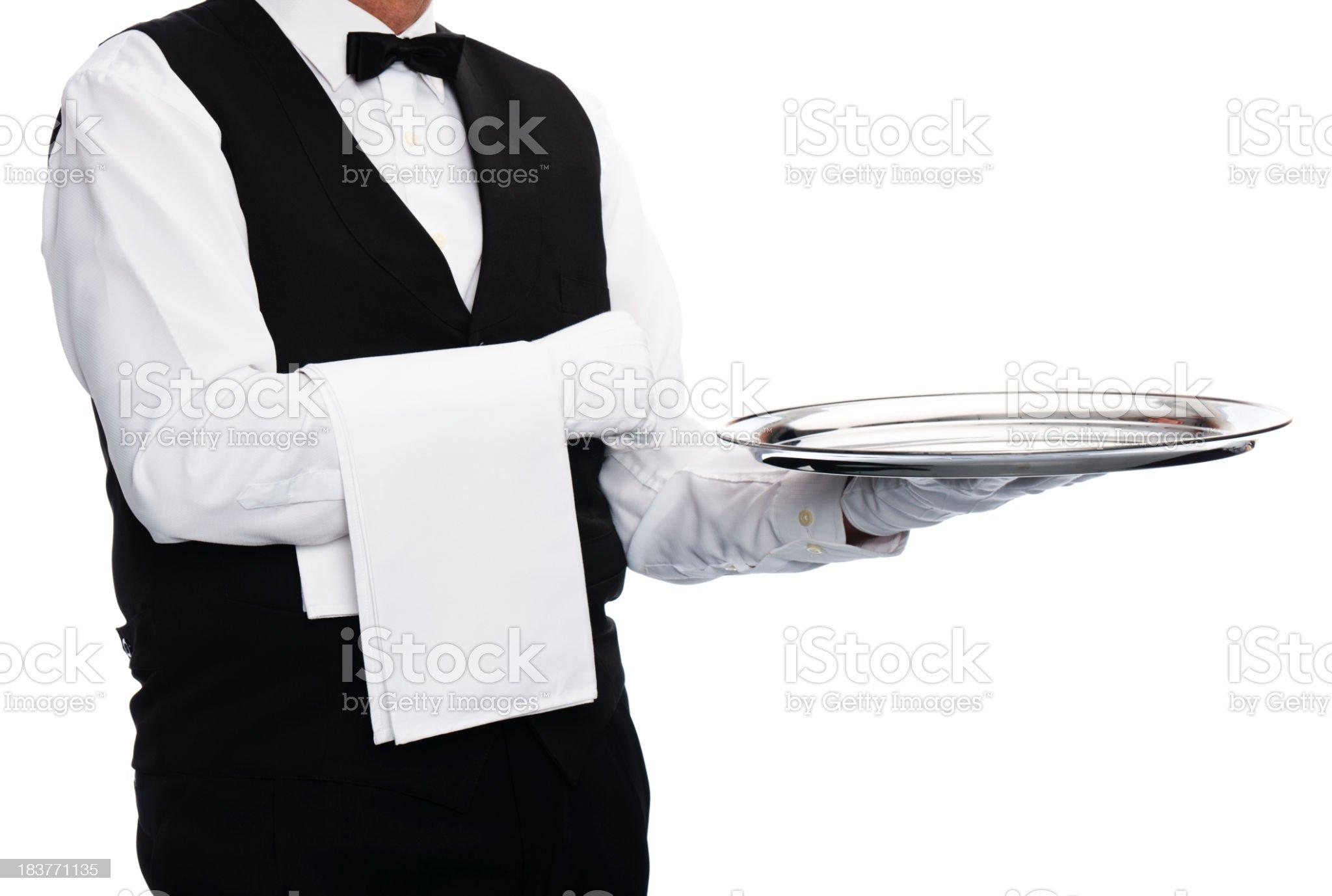 waiter royalty-free stock photo