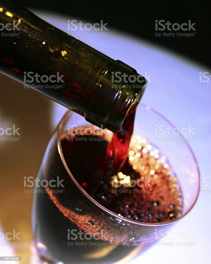 Waiter Pours Wine royalty-free stock photo