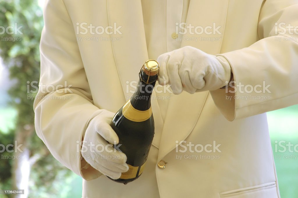 waiter serving stock photo