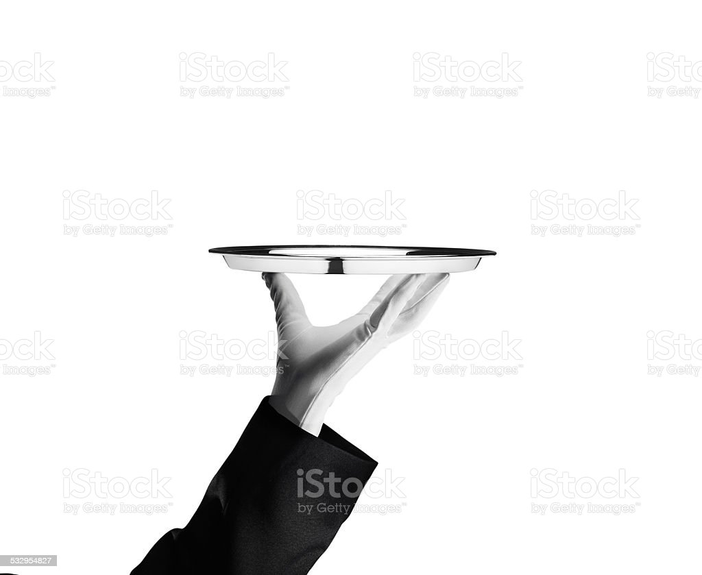Waiter - Stock Image stock photo