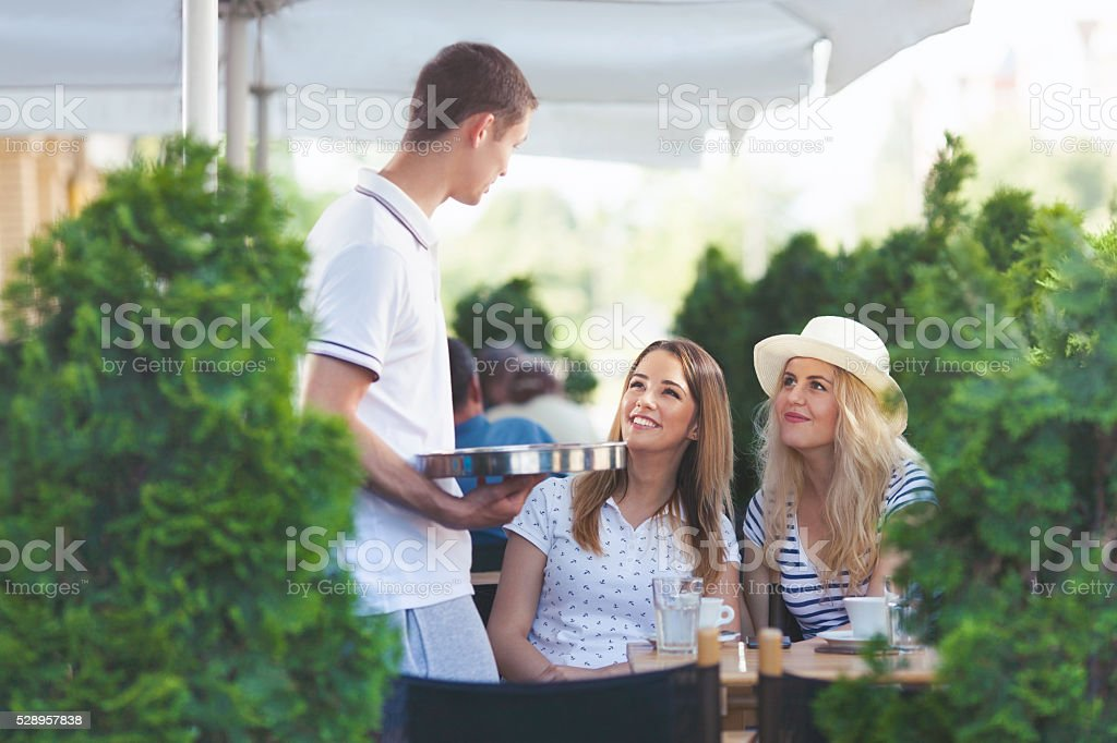 Waiter Taking an Order stock photo